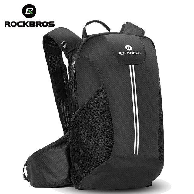 Rockbros ciclismo mochila bicicleta à prova de chuva sacos de desporto acampamento ao ar livre viajar caminhadas sacos respirável alta capacidade 1