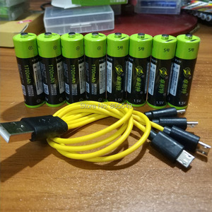 Image 4 - ZNTER  AA  1.5V  1700mah  2550mwh  Capacity  li polymer  USB rechargeable lithium usb battery  USB cable