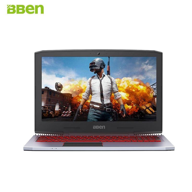 BBEN G16 15,6 ''ноутбук Nvidia GTX1060 GDDR5 Intel i7 7700HQ Pro Win 10 32 ГБ Оперативная память M.2 SSD ips RGB подсветкой клавиатуры игровой компьютер