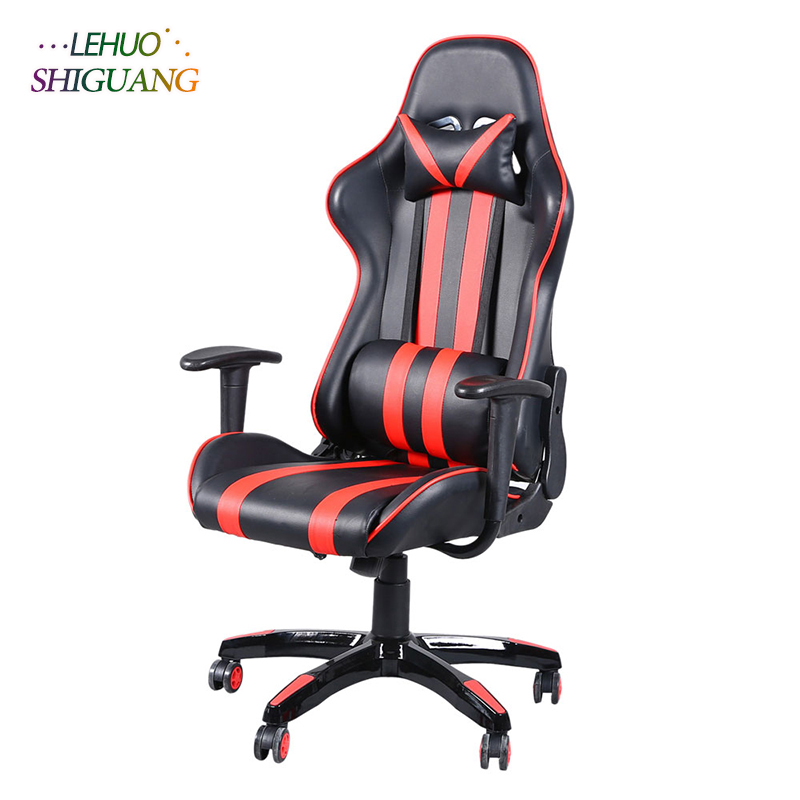 Office chair PU leather High Back Swivel Chair Gaming Chair Rotating lift Fashion office furniture office chair scandinavian book table american staff swivel chair lift student chair