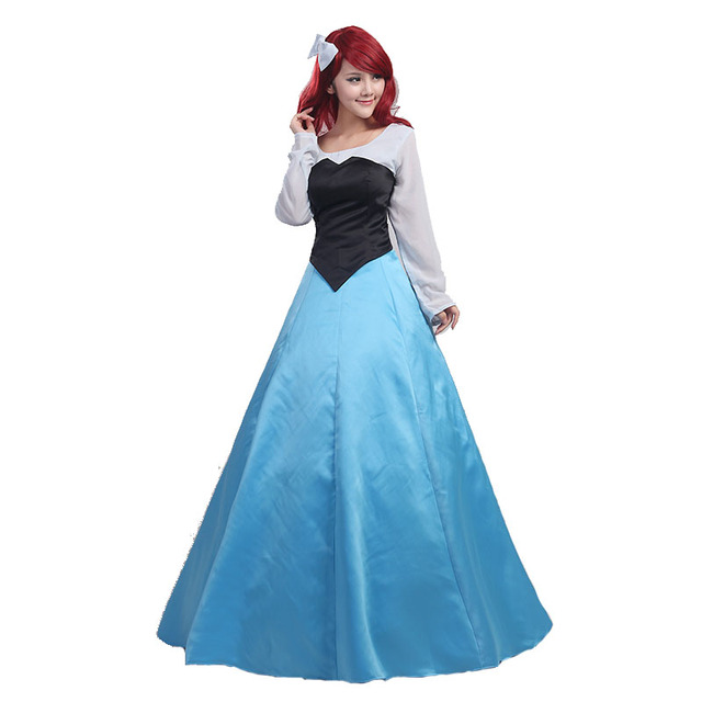 Anime Little Mermaid Princess Ariel Cosplay Costume Women\'s Dress ...