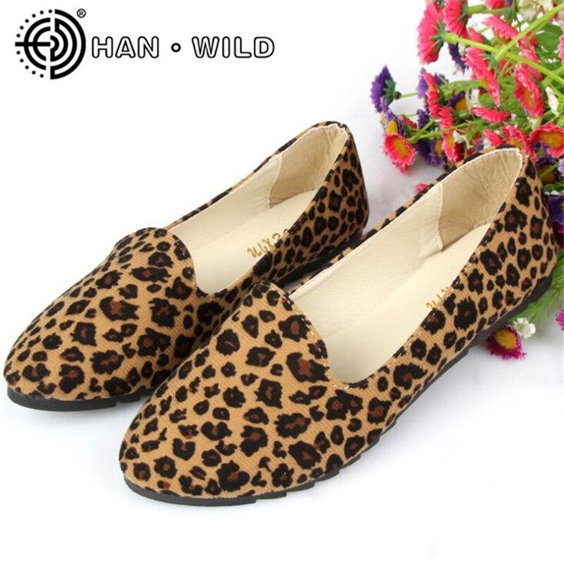 Women Leopard Print Flats Shoes Spring