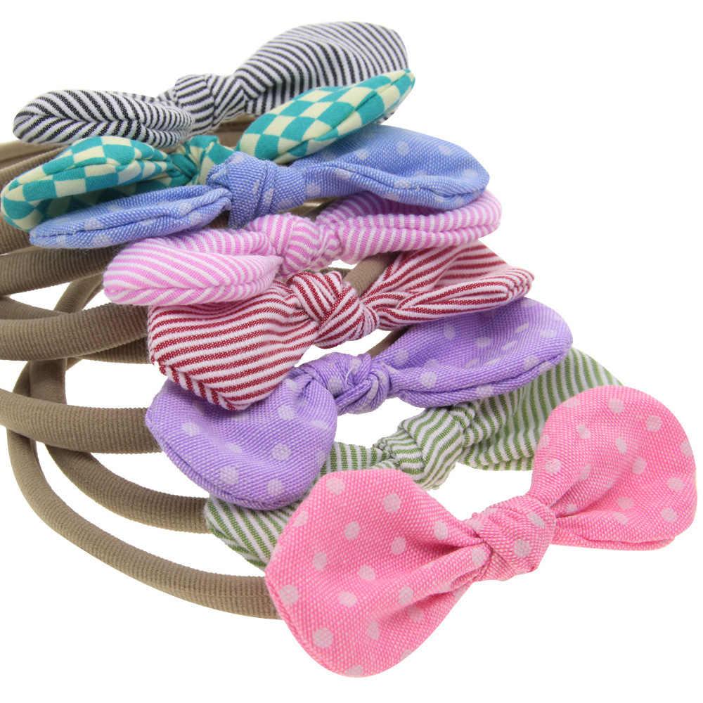 1 ピースマヤ STEPAN 子供女の子蝶ネクタイドット髪ヘッドバンドベビー新生児ヘアロープヘッドバンド帽子 Headwrap