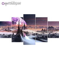 Diamond Painting 5D Full Square/ Round Drill Moonscape Star 3d Daimond Mosaic Rhinestone Embroidery Crystal Cross Stitch Z100