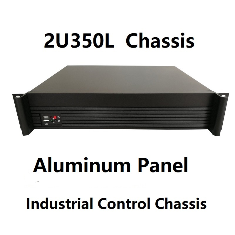 2U Computer case mount aluminum panel 2u350MM Support MicroATX PC power supply firewall 19 inch rack