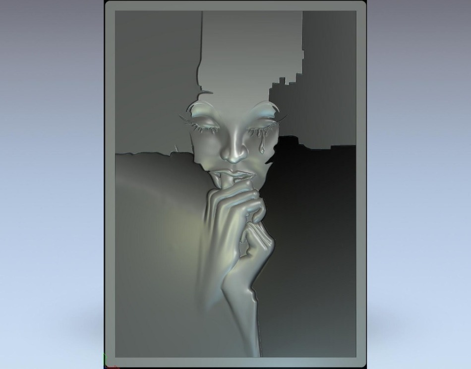 3d Model Relief  For Cnc In STL File Format Face