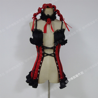 [Customized] Anime Nightmare DATE.A.LIVE Tokisaki Kurumi lingerie underwear Cosplay Costume For Women Halloween Free Shipping.