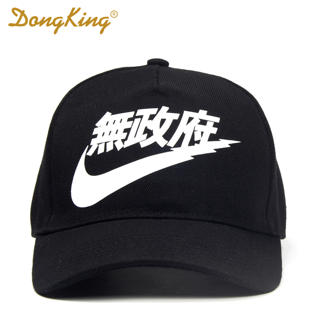 DONGKING RARE Chinese Letter Print Baseball Cap 5 Panels Hat Cool Gift Hats Men Women Adult White Black Adjustable Gorras