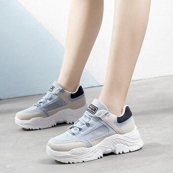 Zapatillas informales para Mujer, Zapatillas vulcanizadas con cordones De gran calidad para...