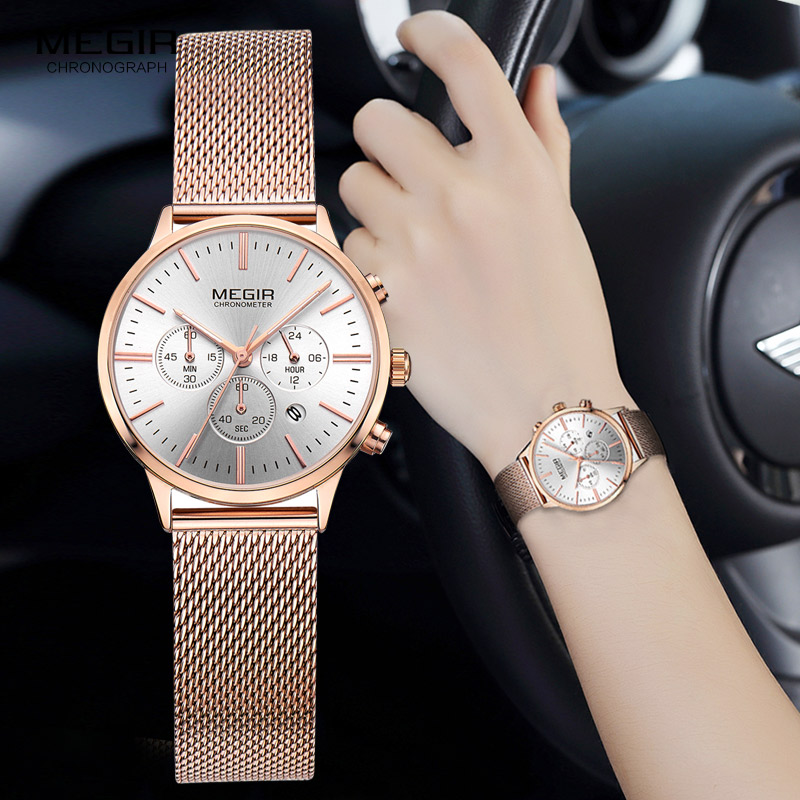 MEGIR Brand Luxury Women Watches Fashion Quartz Ladies Watch Sport Relogio  Feminino Clock Wristwatch for Lovers Girl Friend 2011 77c83095ea8f6