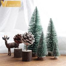 15 шт., DIY, Рождественская елка, маленькая сосновая елка, мини-деревья, 4,5 см, помещается на рабочий стол, домашний декор, Рождественское украшение, подарки для детей