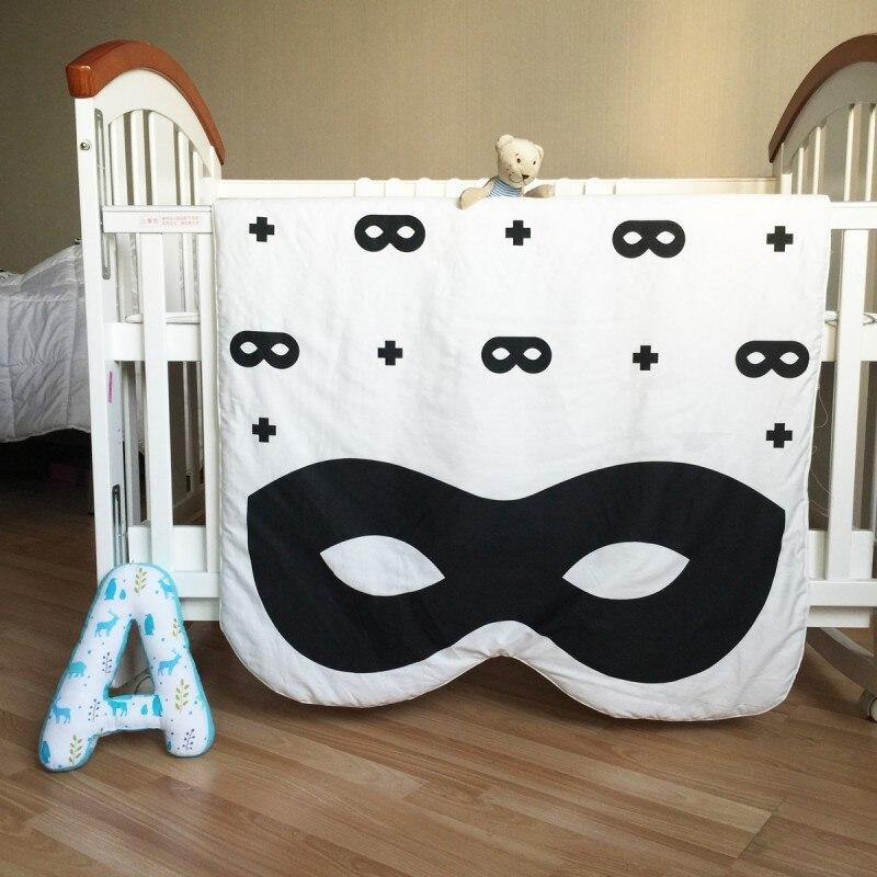 130*90 cm 100% coton literie dessin animé enfants commun infantile antigel couette canapé plancher jouer tapis tapis nouveau-né bébé couverture