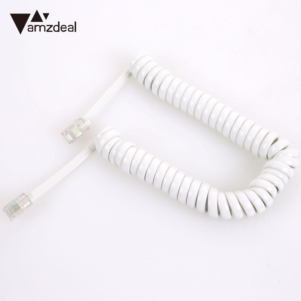 Telephone Cable Copper Telephone Cord Communication Phone Handset Cord ABS Four-Core