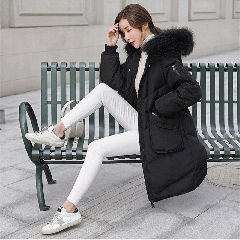 Long La Fourrure Top Femmes Noir Manteau 2018 Qualité gray Vestes Parka Taille Femelle Réel Chaud Noir Automne 5xl Hiver Plus De Occasionnel SqEqnxw6T