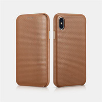 ICARER Luxury Curved Screen Genuine Leather Full Protective Magnetic Flip Case Cover For Apple iPhone XS iX 5.8Phone Case Funda