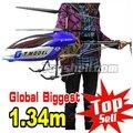 Mayor mayor heli GT QS8006 134 cm 3.5ch Gyro marco de metal modelo de helicóptero rc luces LED 8006