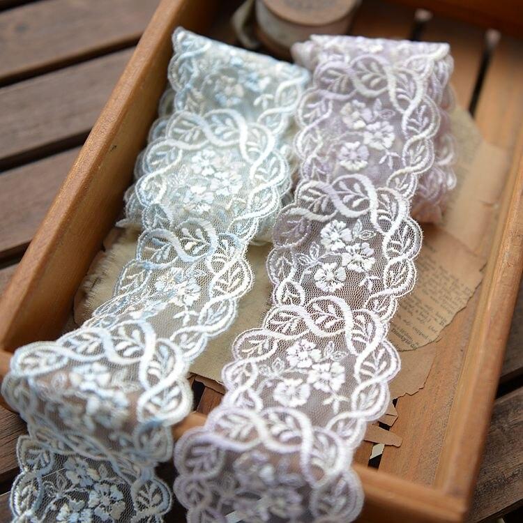 Вышивка лентами по тюли