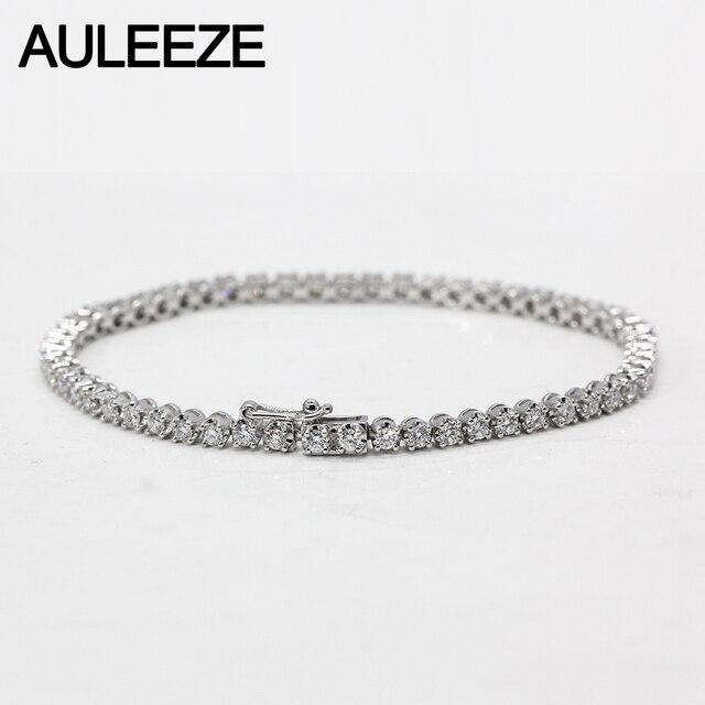 2 5cttw Moissanite Diamond Bracelet Solid 18k White Gold Lab Grown Wedding Anniversary
