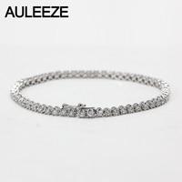 2.5CTTW Moissanite Diamond Bracelet Solid 18K White Gold Lab Grown Diamond Bracelet Wedding Anniversary Diamond Women Jewelry