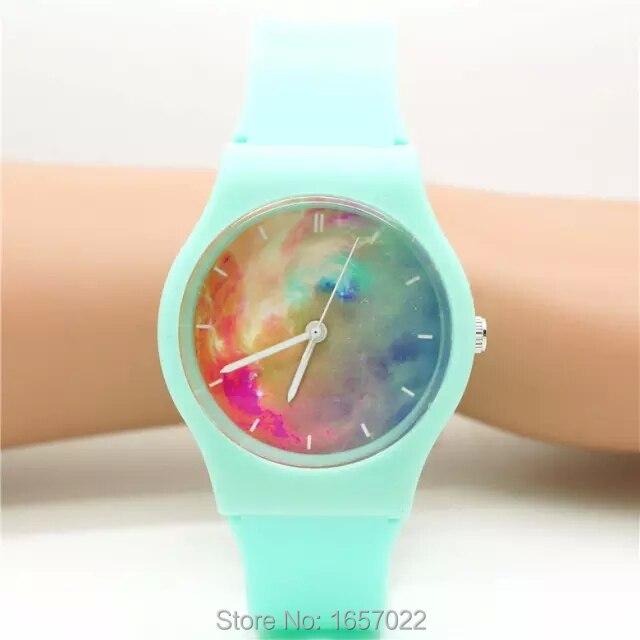 Fashion Women Men Sunset Dial Scrub Strap Jelly Wristwatch High Quality Children Quartz Reloj De Regalo With Japan Movement