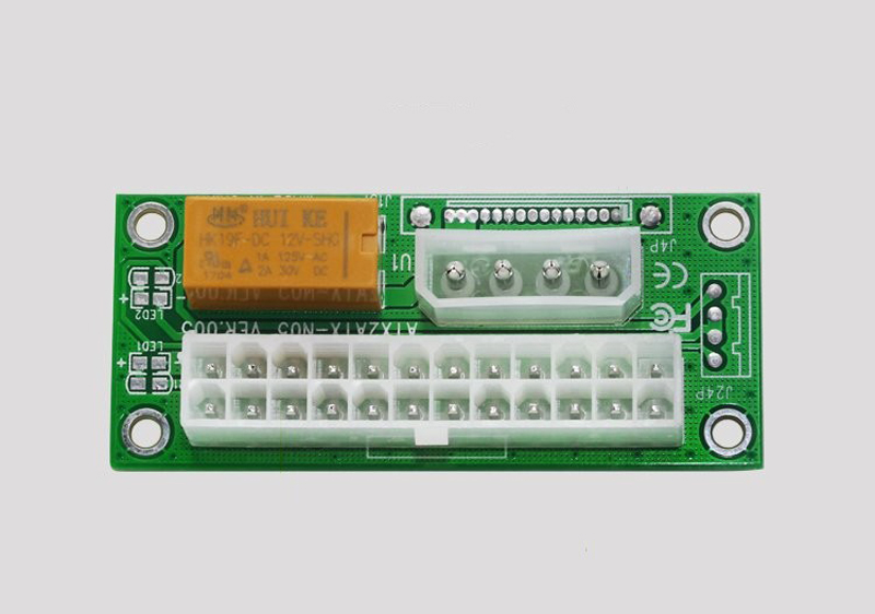 computer atx 24 pins dual psu power supply sync starter. Black Bedroom Furniture Sets. Home Design Ideas