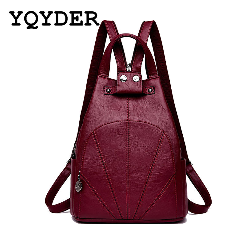Fashion Women Backpack Anti-theft Pocket School Bags for Teenagers Girls PU Leather Shoulder Bags Female Casual Travel Back PackFashion Women Backpack Anti-theft Pocket School Bags for Teenagers Girls PU Leather Shoulder Bags Female Casual Travel Back Pack