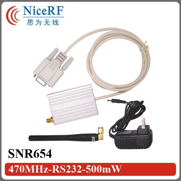 Бесплатная Доставка! 433 МГц Интерфейс RS232 500 МВт Средней Мощности Сетевой Модуль SNR654 И Беспроводной Модуль Приемопередатчика