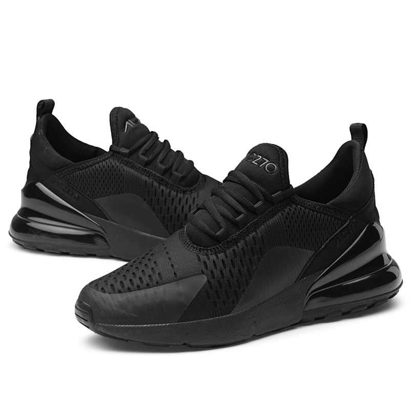 أنيق التخميد احذية الجري للرجال الهواء تنفس خفيفة الوزن أحذية رياضية أسود أحمر الذكور رياضة رياضية زائد حجم أحذية