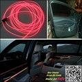 For OPEL Vivaro 2015 Car Interior Ambient Light Panel illumination For Car Inside Tuning Cool Strip Light Optic Fiber Band