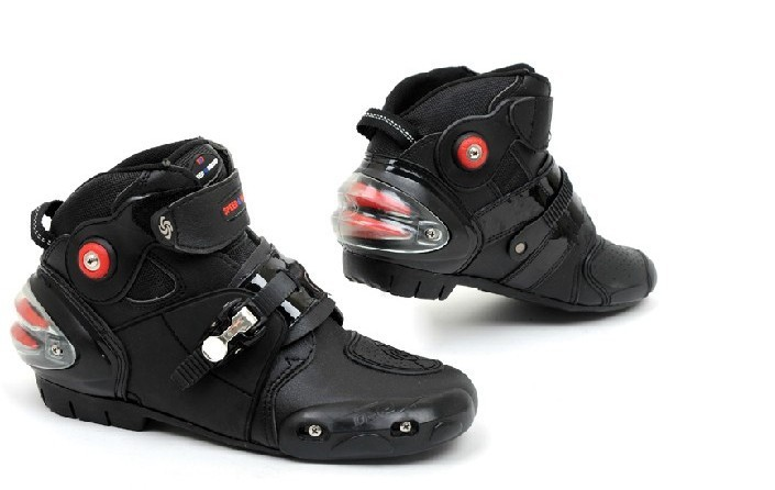 New Motorcycle Motocross Motorbike Racing Speed Leather Boots Shoes Black waterproof