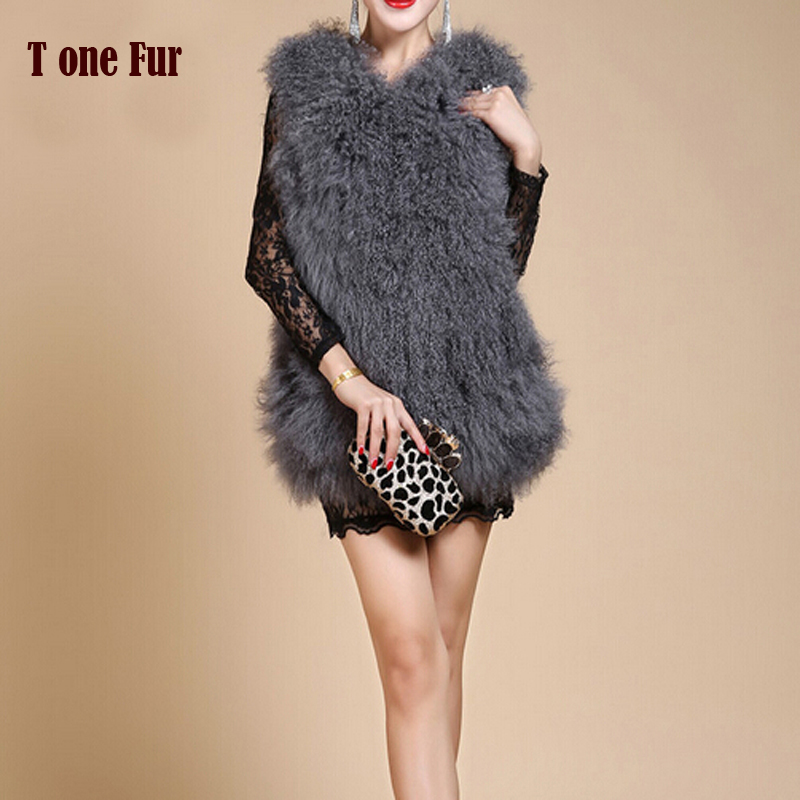 2019 New Real Natural Mongolia Sheep Fur Vest For Women High Fashion Free Shipping FP363