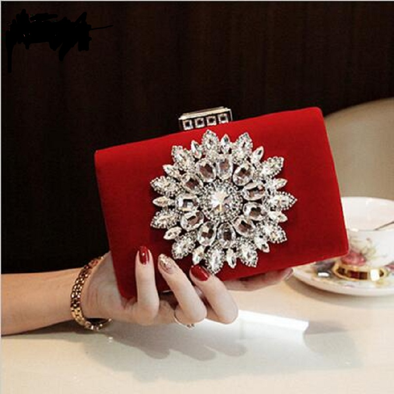 2018 Diamond Stud Banquet Women Red Wedding Bags Bag Claws Beg Indian Handbag In Top Handle From Luggage On Aliexpress Alibaba Group