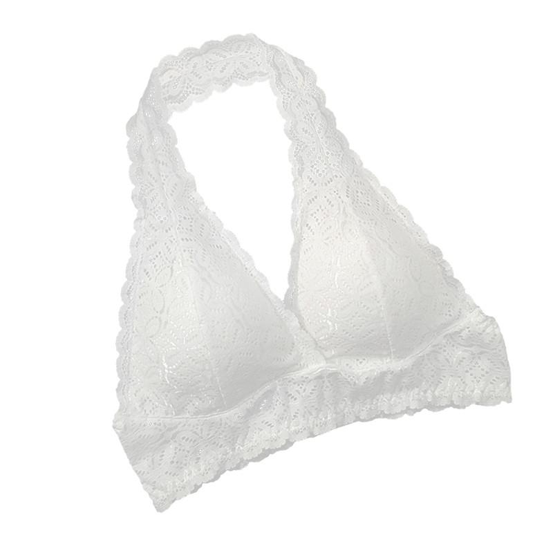 8ebe8b4436 2019 Push Up Lace Bras For Women 2018 Plus Size Halter Bralette ...