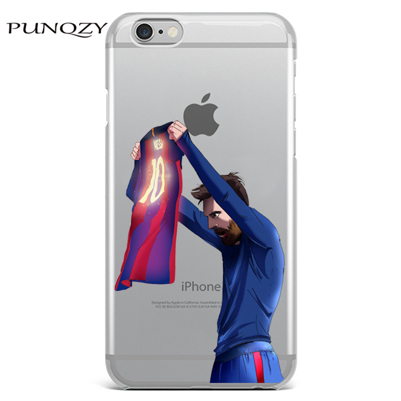 new arrival 348e2 037f4 Sport Football Soccer Star Messi Case For iphone 6 6S 7 7Plus 5 5S SE 4 4S  5C transparent soft Silicone Mobile phone shell cover