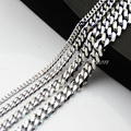1 Piece Casual Men's Women's Unisex 3mm 5mm 7mm 9mm Width Stainless Steel Necklaces Curb Chains E313
