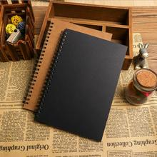 цена Vintage Kraft Blank Sketchbook For Drawing Graffiti Notebook Journals Spiral Memo Pad Sketch Book Paperlaria Kawaii Stationery онлайн в 2017 году
