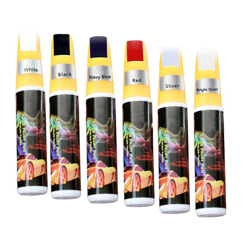 6 Colors Car Scratches Paint Repair Pen Repair Painting Market Pen Automotive Car Vehicle Paint Care Red Black White Silver Gray