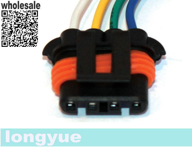Longyue 10pcs Repair Plug Harness Pigtail Connector 4 Wire