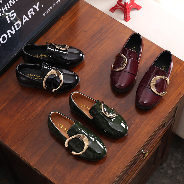 NEW Spring/Autumn Fashion Slip-On Children Leather Shoes Girls Boys Casual Loafers Baby Flats Sneakers Kids Shoes