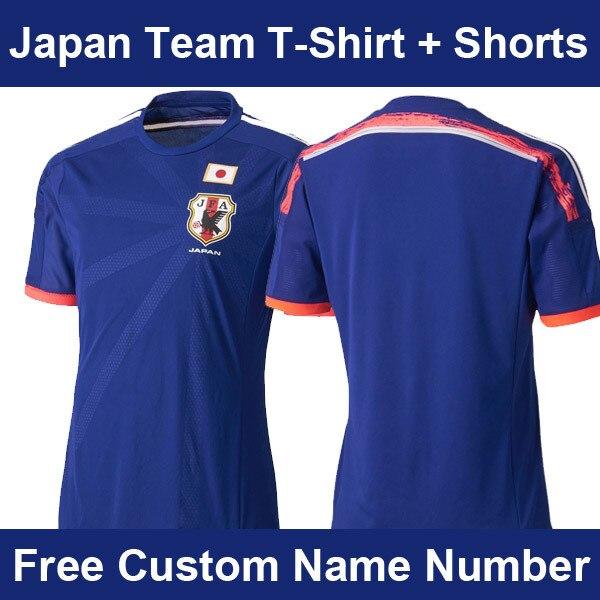 52d3be0bbe8 New Arrival 2014 Brasil World Cup Japan Team Jersey Futebol Japanese Home Soccer  Jerseys Uniforms Japan Fans T-Shirt+Shorts