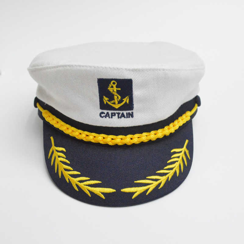 aef90542690b8 ... Unisex Naval Cap Cotton Military Hats Fashion Cosplay Sea Captain s Hats  Army Caps for Women Men ...