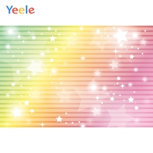 Yeele Wallpaper Party Colorful Glitter Stars Stripes Photography Backdrop Personalized Photographic Backgrounds For Photo Studio