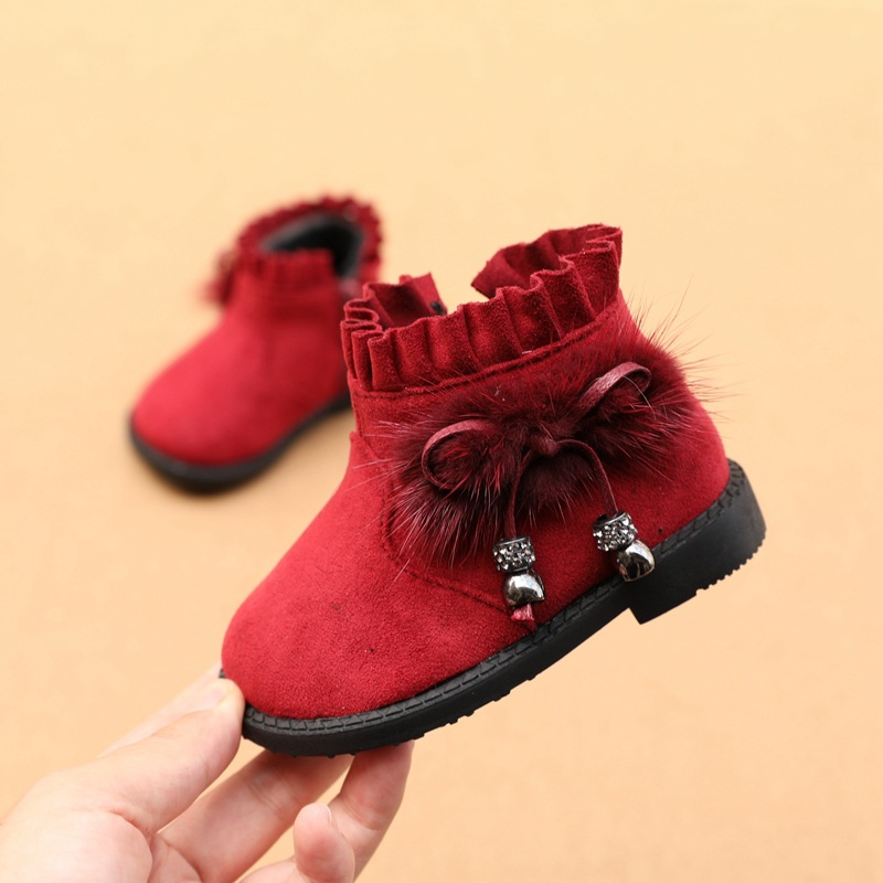 2019 Winter New Baby Girls Fashion Boots Princess Cotton Shoes  1-2T Baby Booties Baby Moccasins First Walkers