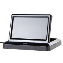 ANSHILONG moniteur couleur LCD pliable pour voiture, moniteur de recul en couleur, 5 pouces, caméra de recul pour voitures