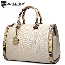 ZOOLER 2017 top handle women bag genuine leather handbags boston pillow bolsa feminina shoulder messenger bags luxury#150 цена
