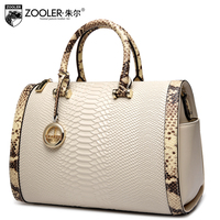 ZOOLER 2017 Top Handle Women Bag Genuine Leather Handbags Boston Pillow Bolsa Feminina Shoulder Messenger Bags
