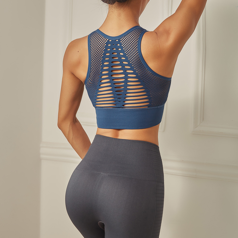 Women's Seamless High Impact Sports Bra with Removable Cups
