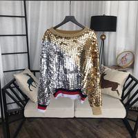 Новинка 2018 Высокое качество модные свитера для подиума летние Для женщин s Роскошные брендовые Женская одежда A08150
