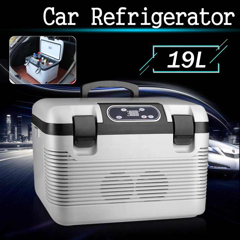 19L 68 w Mini Double-système Maison De Voiture à Double usage Réfrigérateur Voiture Banquise Glacière De Voiture Avec télécommande