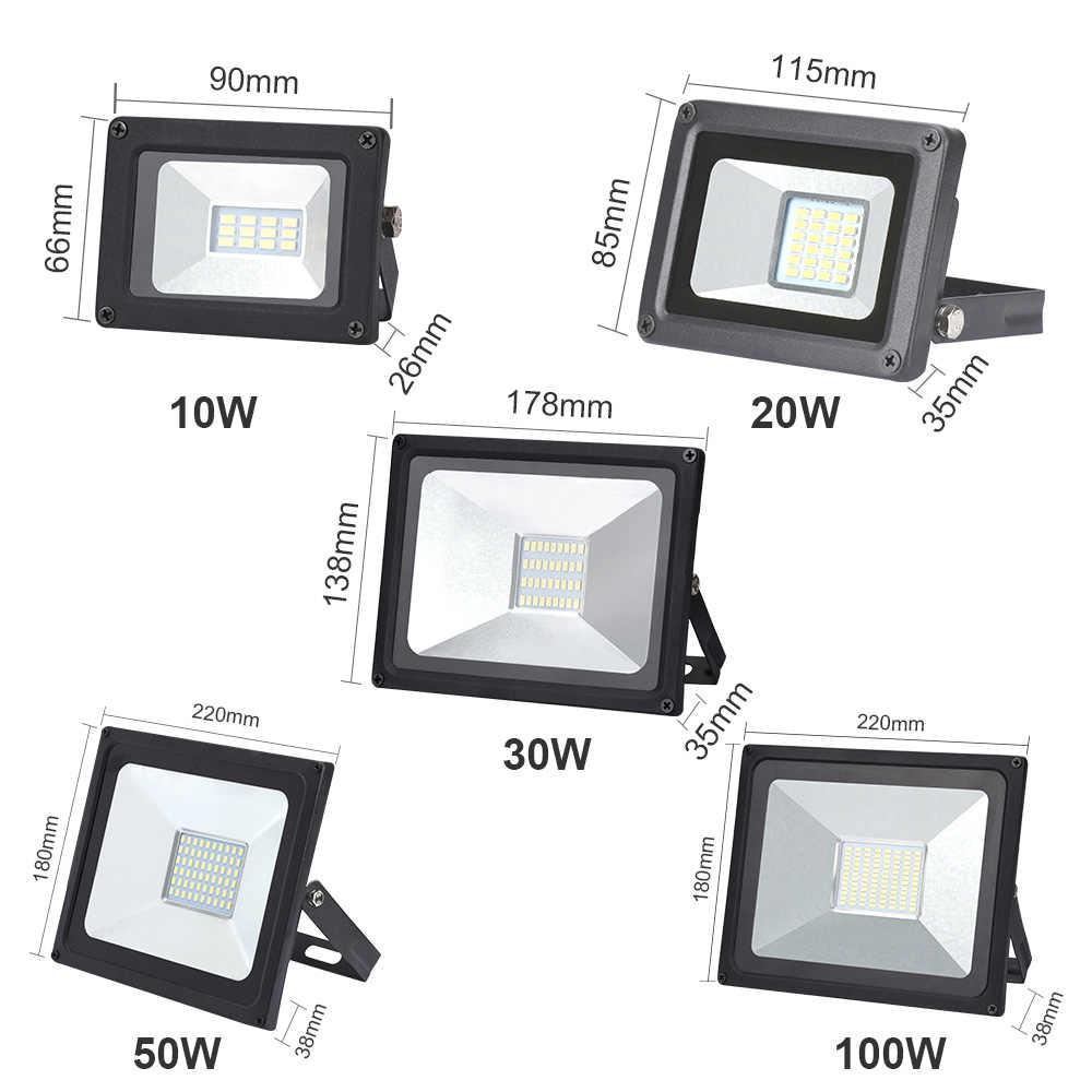 110 V/220 V Ultra-thin10W 20W 30W 50W 100W LED Flutlicht Scheinwerfer Führte Suche lampe Flutlicht für Garten Im Freien Straße Platz